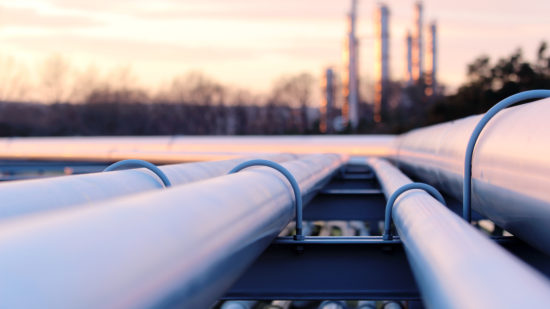 Steel,Long,Pipes,In,Crude,Oil,Factory,During,Sunset